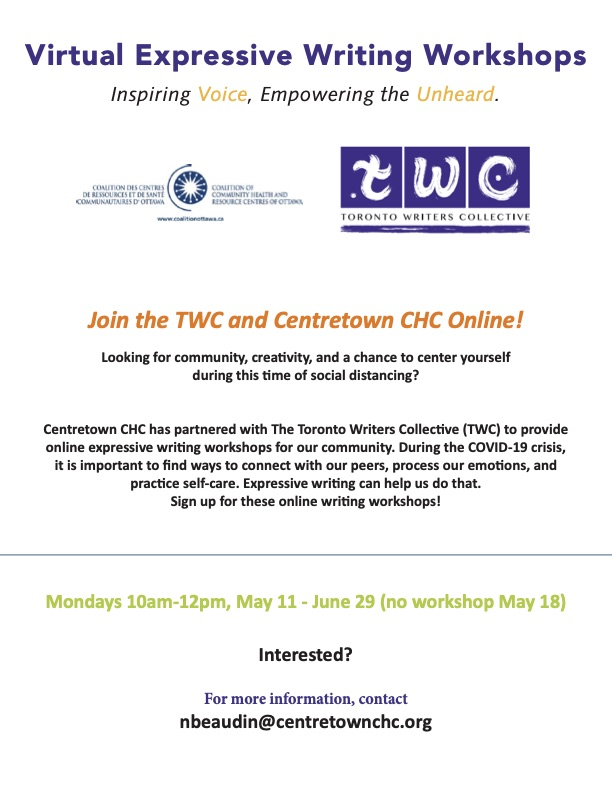 Centretown TWC Monday Workshops