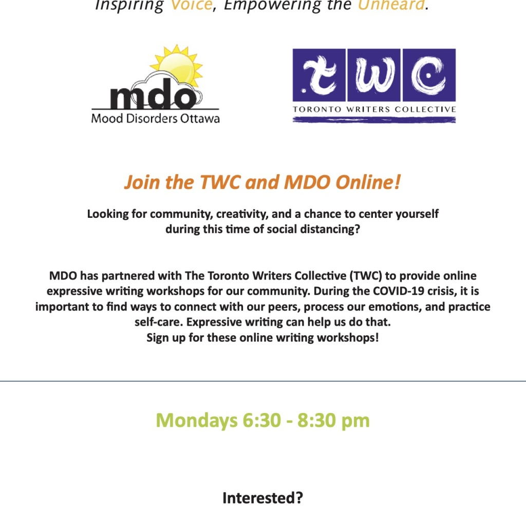Mood Disorders Ottawa (In-House and Online)